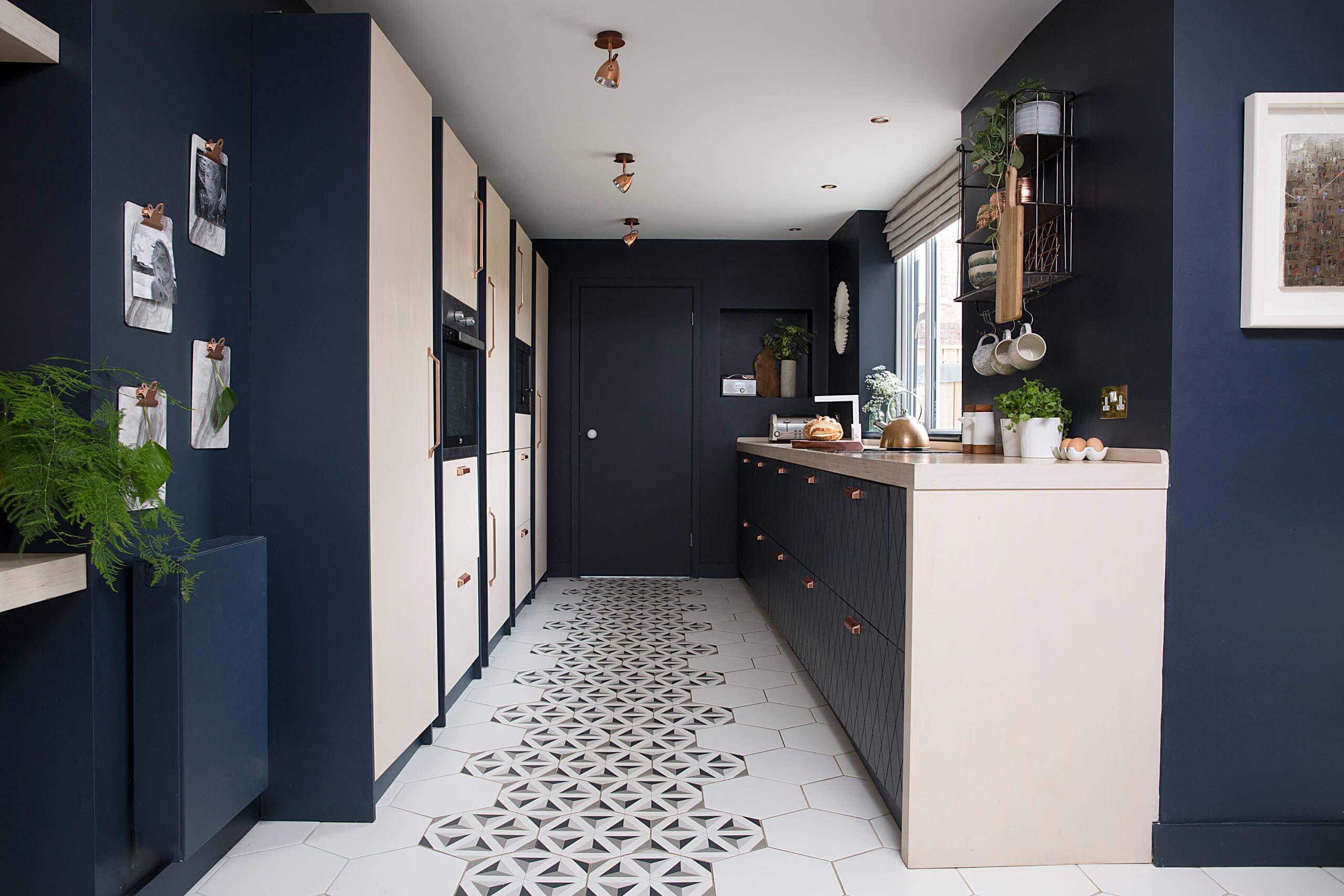 unique kitchen floor tile designs