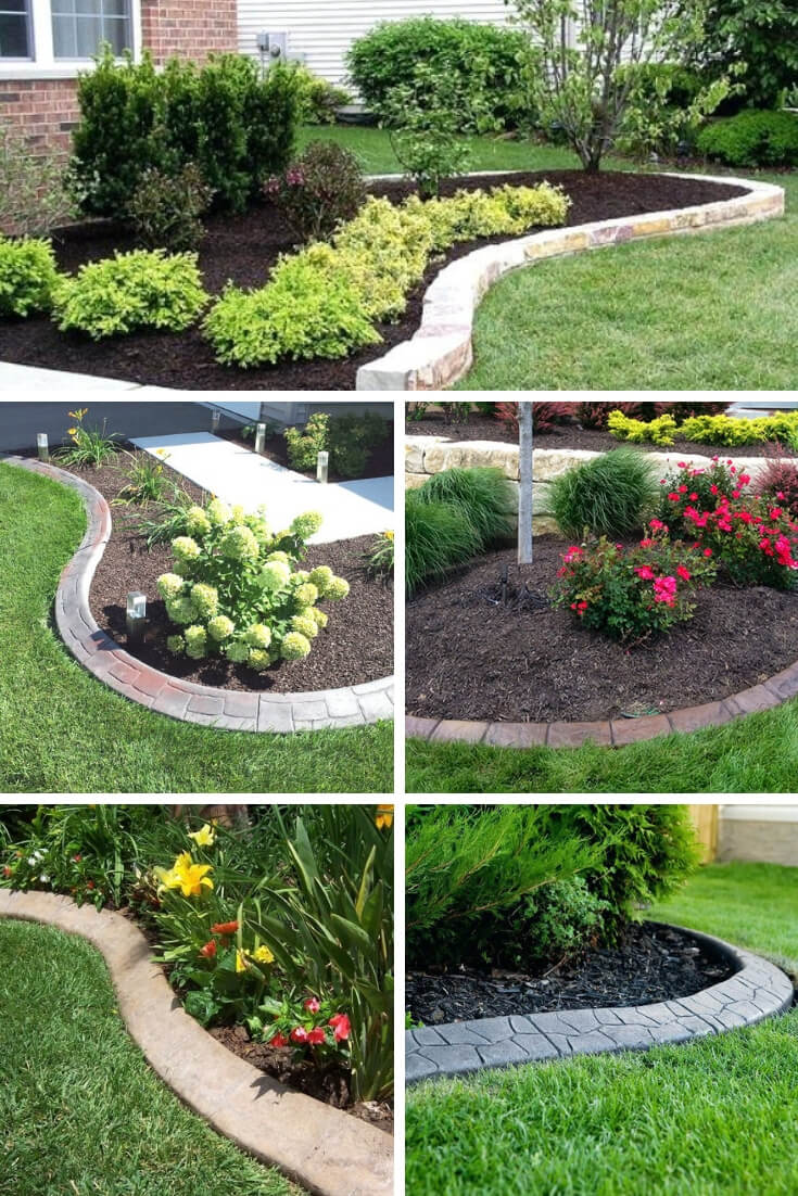 21+ Brilliant & Cheap Garden Edging Ideas With Pictures ... on Backyard Border Ideas  id=63605