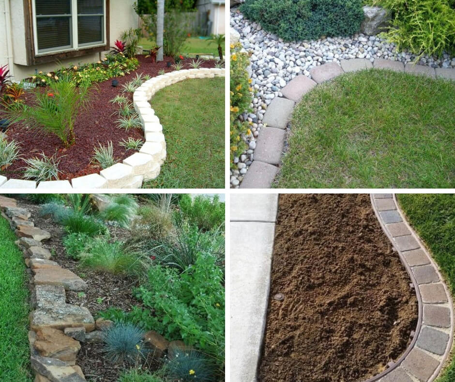 21+ Brilliant & Cheap Garden Edging Ideas With Pictures ... on Backyard Border Ideas  id=49494