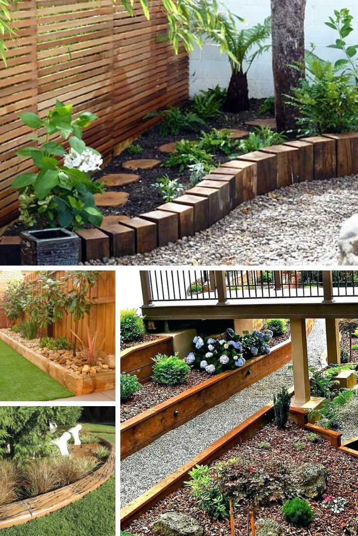 21+ Brilliant & Cheap Garden Edging Ideas With Pictures ... on Backyard Border Ideas  id=53973