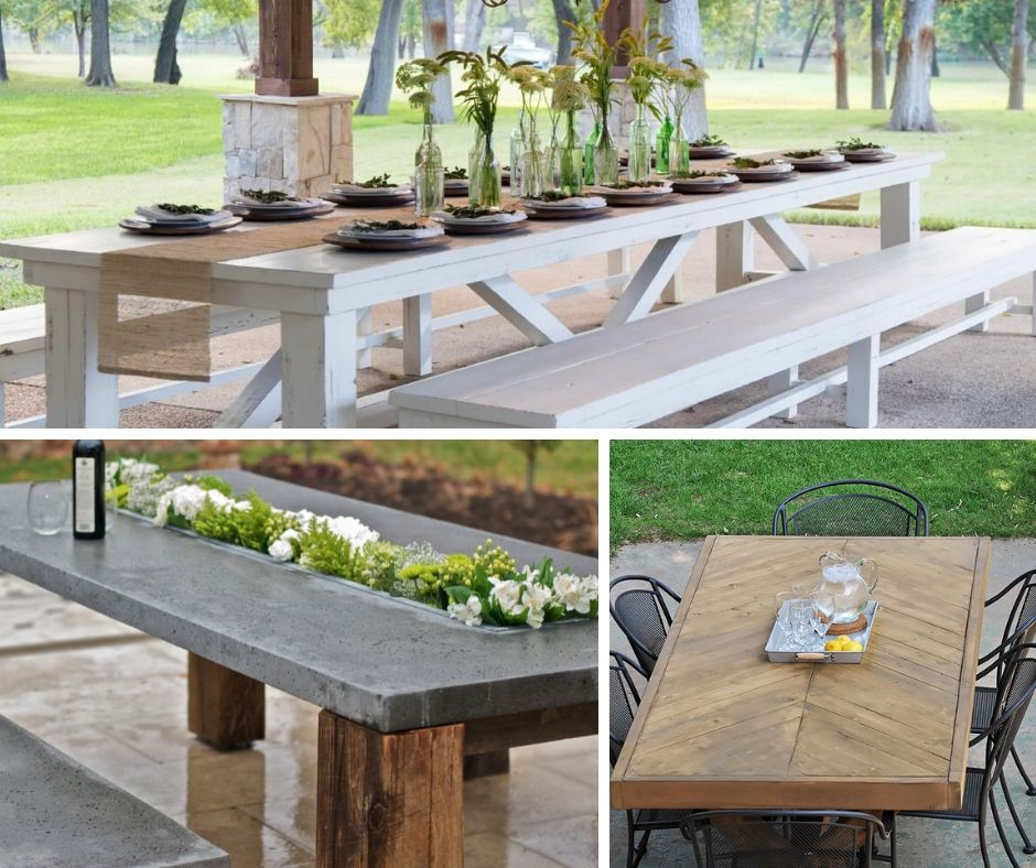 25 brilliant diy outdoor dining table