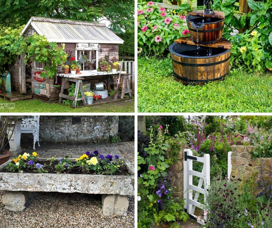 25+ Low Cost Rustic Garden Features (Ideas and Designs) on Low Cost Patio Ideas id=11651