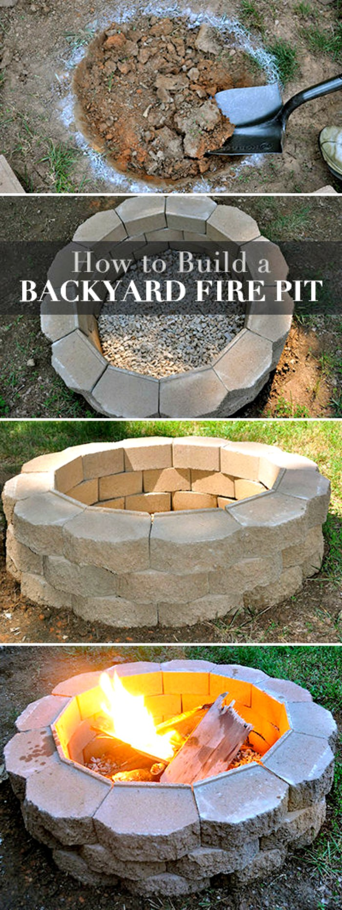 57 DIY Fire Pit Ideas For Your Yard • DIY & Crafts on Diy Outdoor Fire  id=36124