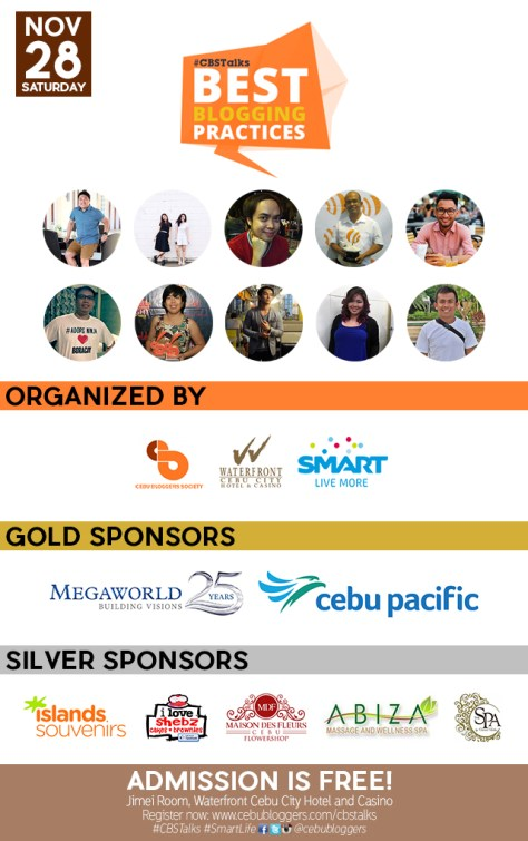#CBSTalks: Best Blogging Practices presented by Cebu Bloggers Society, SMART Communications, and Waterfront Cebu