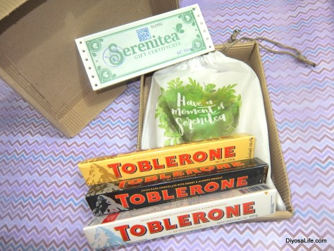 Holiday Gift from Serenitea: GCs, Toblerone bars, and a secret package for Ria Jose
