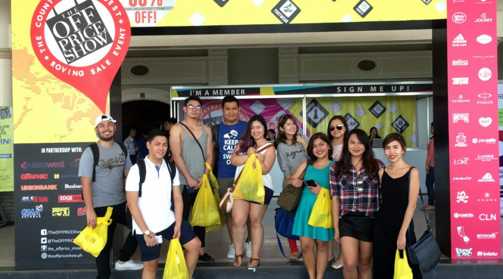 Davao Bloggers at The Off Price Show Davao 2016
