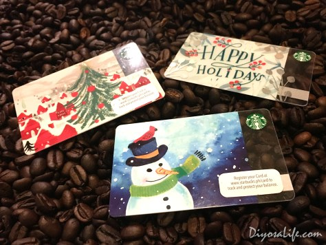 Starbucks Holiday Cards 2016 - Holiday Tree, Snowman, and Happy Holidays