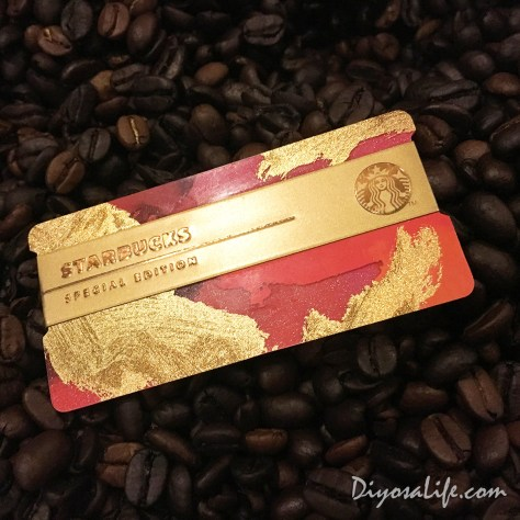 Starbucks Holiday Cards 2016 - Red and Gold 02