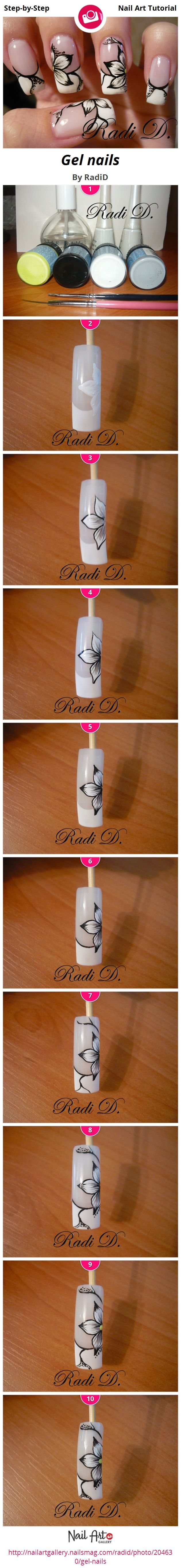 DIY Ideas Nails Art : Gel nails by RadiD - Nail Art Gallery Step-by ...