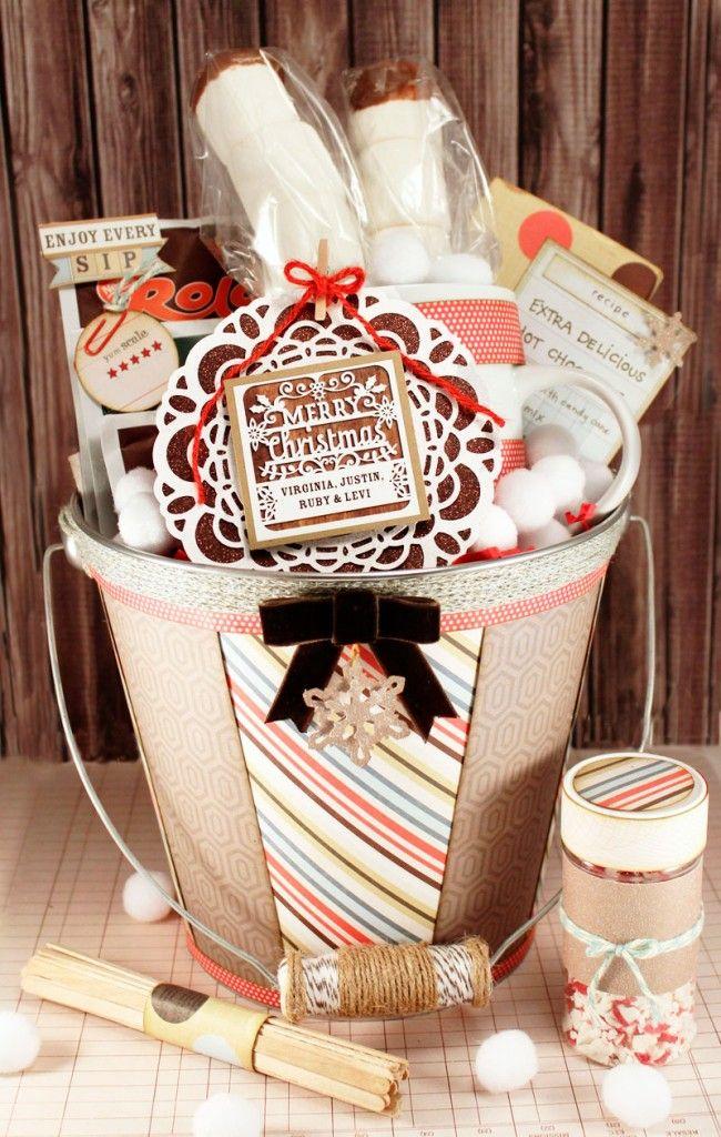 Handmade gifts wrap ideas hot chocolate gift basket set hot chocolate gift basket set include hot chocolate mug marshmallows chocola negle Images