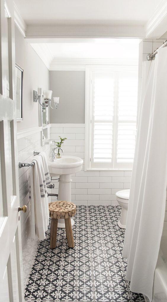 salle de bains vintage avec carrelage metro wwwhomelistycom - Carrelage Salle De Bain Vintage
