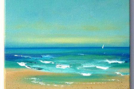 93 acrylic painting for beginners beach 144 best acrylic beach