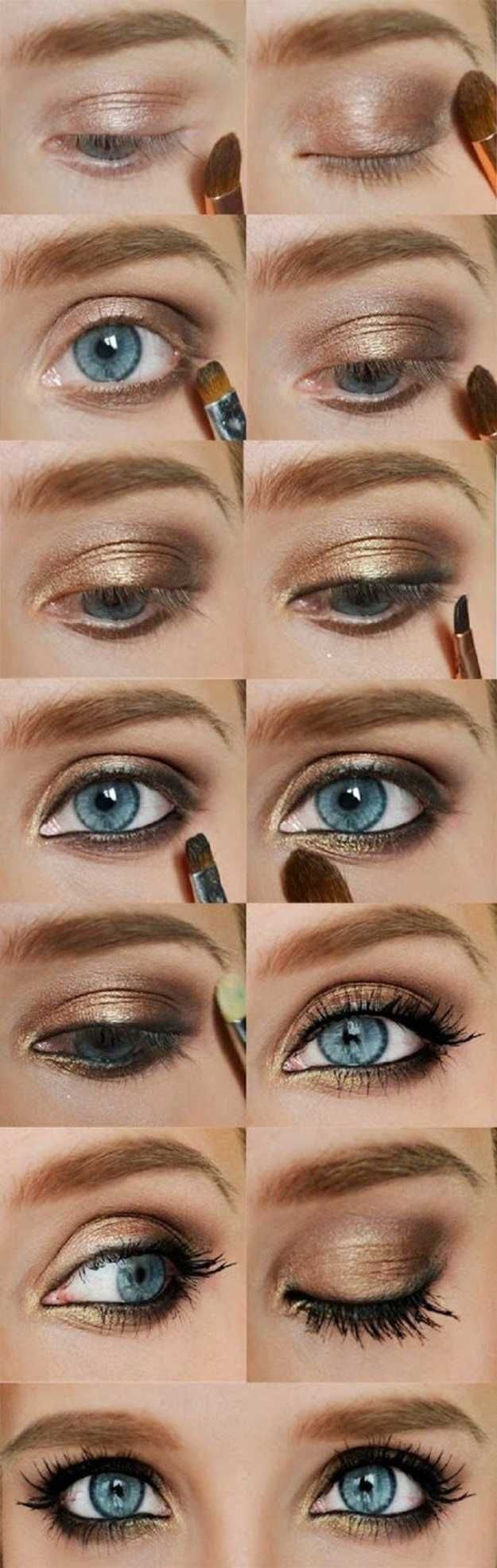 Diy makeup tutorials gold eyeshadow colorful eyeshadow gold eyeshadow colorful eyeshadow tutorials makeup tutorials baditri Choice Image