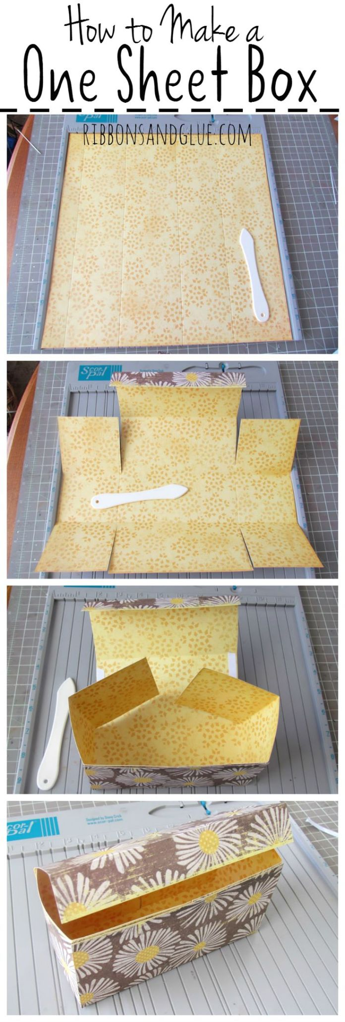 Follow this Easy Box Tutorial made out of one sheet of 12 x 12 Scrapbook Paper. ...