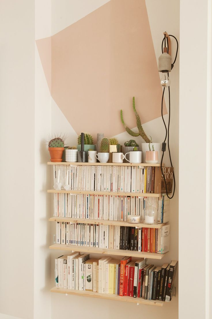DIY Shelves Ideas : The Socialite Family | Bibliothèque aux tons ... - Bibliotheque Diy