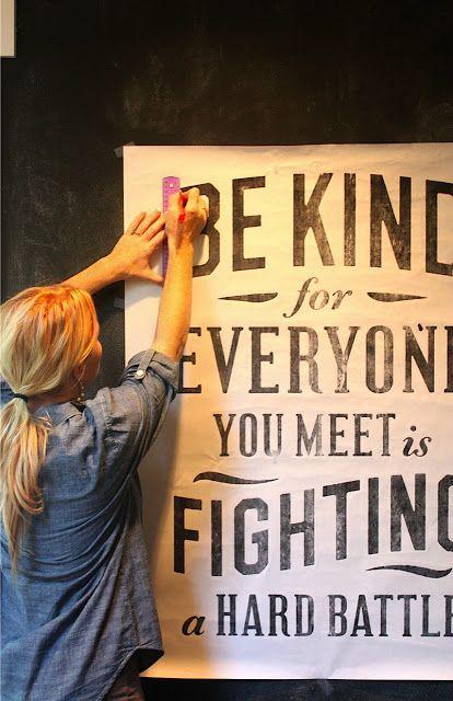 Diy Crafts Ideas : DIY: Chalkboard Wall Lettering Tutorial - plus ...