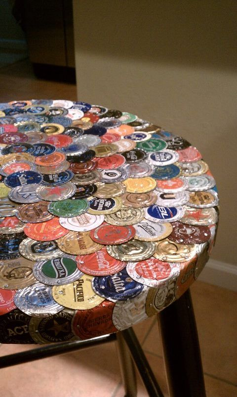 bottle cap furniture. Bottlecap Stool...here\u0027s So,ething We Could Do With Our Gazillion Bottle Cap Furniture