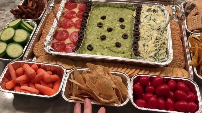 DIY Super Bowl Stadium Snack Platter