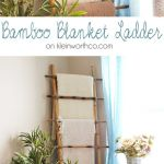 Diy Furniture Plans Tutorials This Beautiful Bamboo Blanket Ladder Is Simple To Make Just 4 Pieces Of Bamboo Diypick Com Your Daily Source Of Diy Ideas Craft Projects And Life Hacks