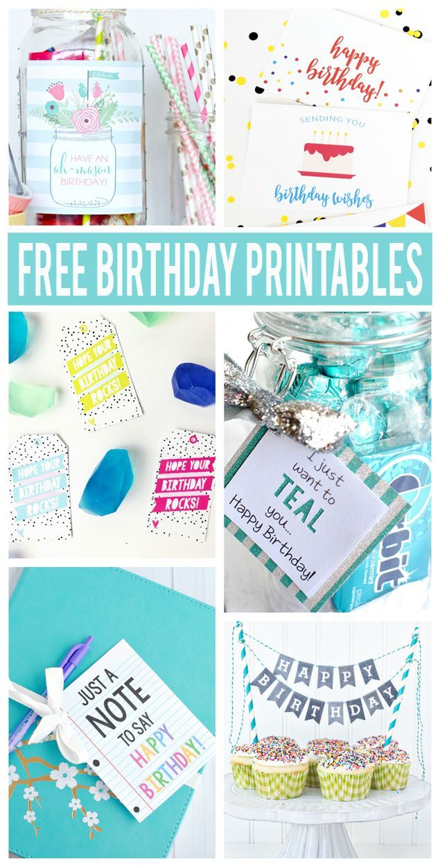 Best Diy Crafts Ideas For Your Home. Free Printable Birthday Cards, Fun  Birthday Gift Ideas With Printable Tags And M.