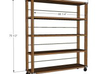DIY Shelves Ideas Rolling Industrial How To Make Your Own