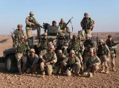 A British Military Troop in Iraq.