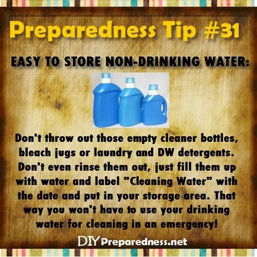 DIY_Preparedess_Tip_31_Non_Drinking_Water_Storage_Empty_Cleaning_Jugs