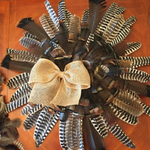 Pheasant Feather Wreath