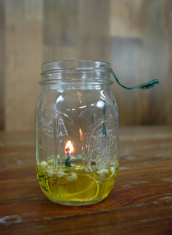 Practical and Pretty Mason Jar Oil Lamp | Mason Jar Crafts You Can Make In Under An Hour [2nd Edition]