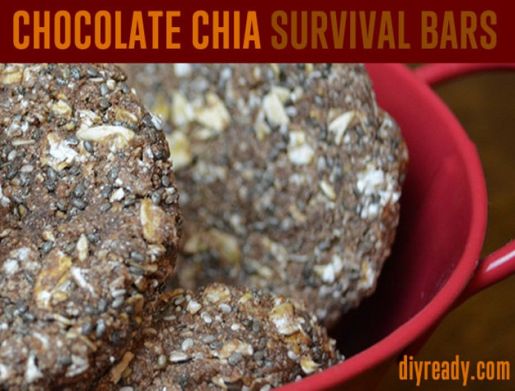Chocolate Chia Survival Bars | DIY Survival Food You'll Actually Want To Eat | survival food | survival food bars