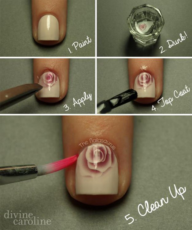 Lacquerhe Of Oz In Depth Water Marbling Nail Art Tutorial