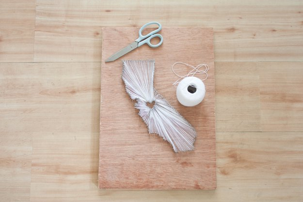 Easy String Art Patterns For California State By Diy Projects At S Diyprojects