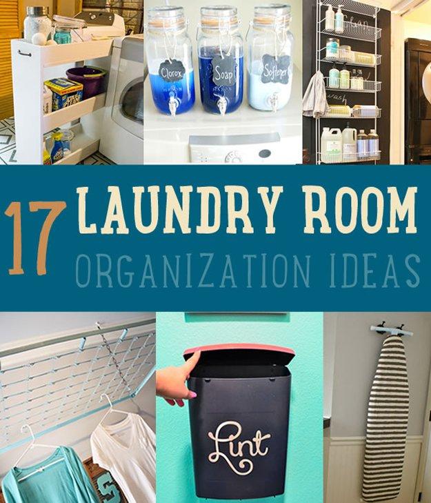 17 Brilliant DIY Laundry Room Organization Ideas and Tips ... on Laundry Room Organization Ideas  id=55076