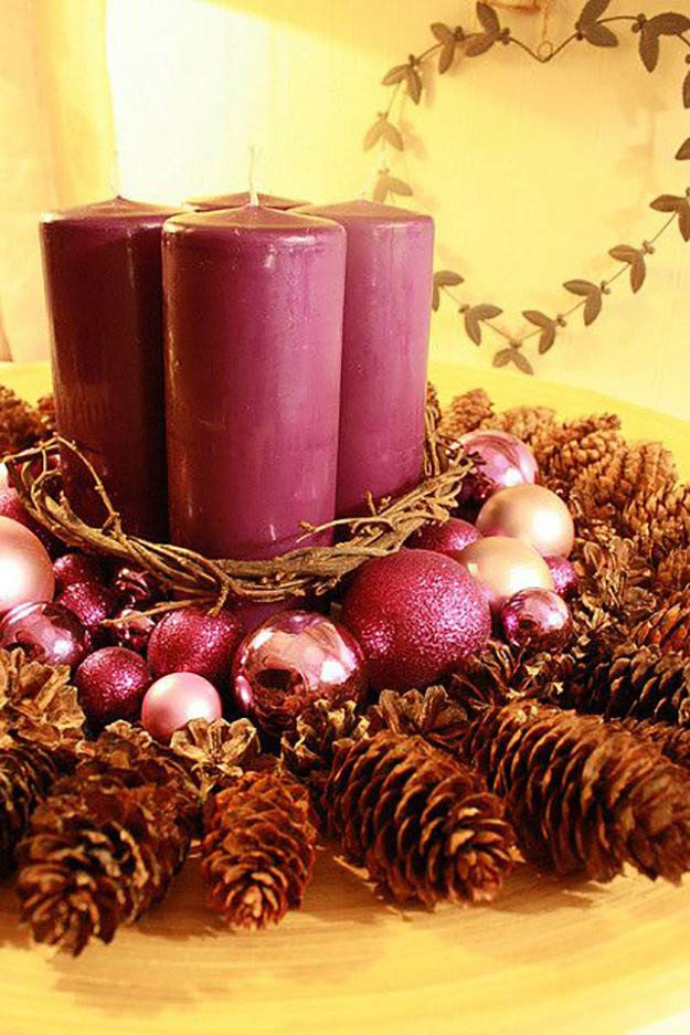 Creative Candle Centerpiece | DIY Christmas Centerpiece Ideas To Complete Your Table