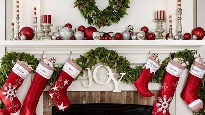 Gorgeous Fireplace Mantel Christmas Decoration Ideas 94