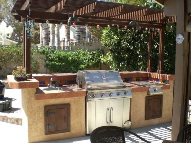 Cheap DIY Projects For Summer | Backyard Kitchen and ... on Patio Kitchen Diy  id=72556