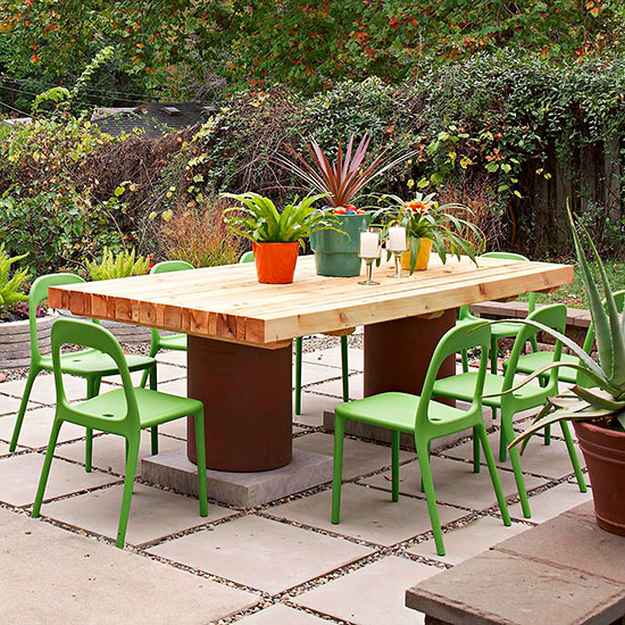 Cheap DIY Projects For Summer | Backyard Kitchen and ... on Diy Backyard Patio Cheap  id=25113
