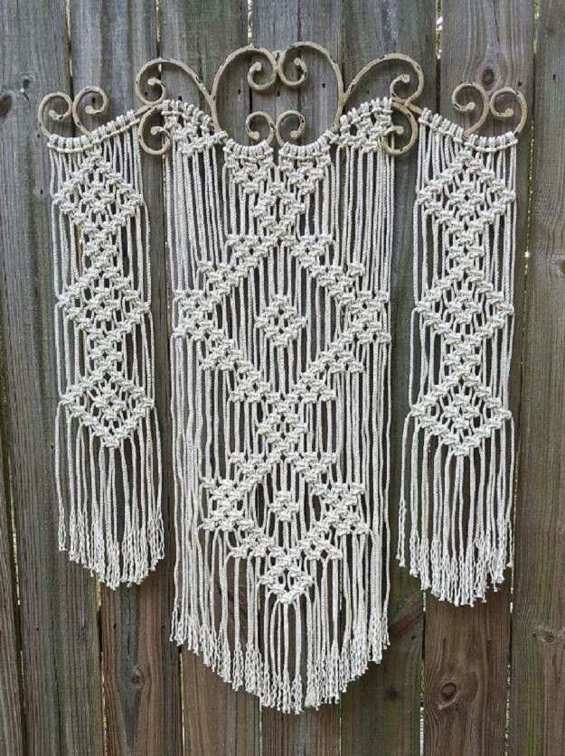 Ornamental Iron Macrame Wall Hanging Inspiring Hangings Ideas For Your Home