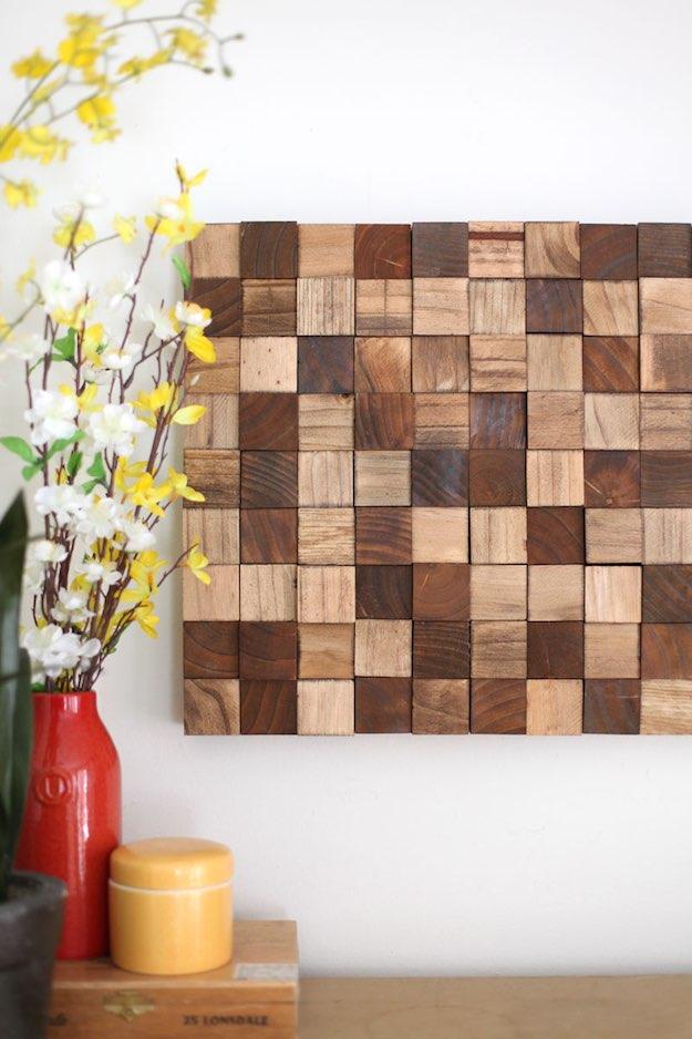 11 Creative Wood Wall Art Ideas | Weekend DIY Projects on Creative Wall Art Ideas  id=50018