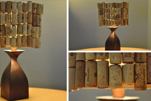 Wine Cork Lampshade   Impressive Ways To Reuse Wine Corks