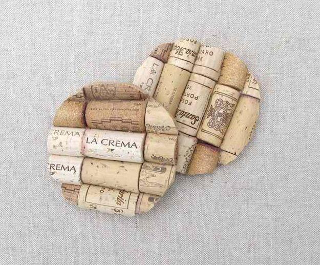 Cork Coasters   Impressive Ways To Reuse Wine Corks