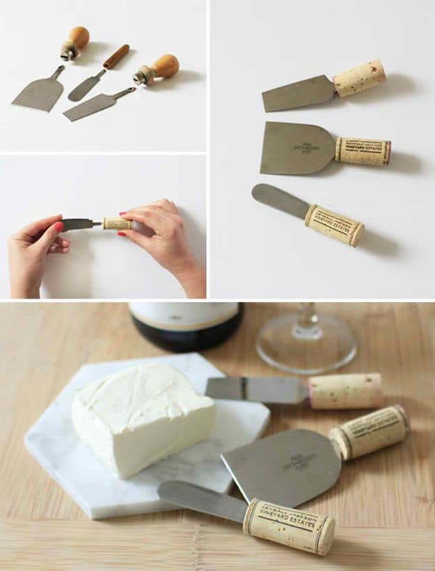 Wine Cork Cheese Knives | Impressive Ways To Reuse Wine Corks