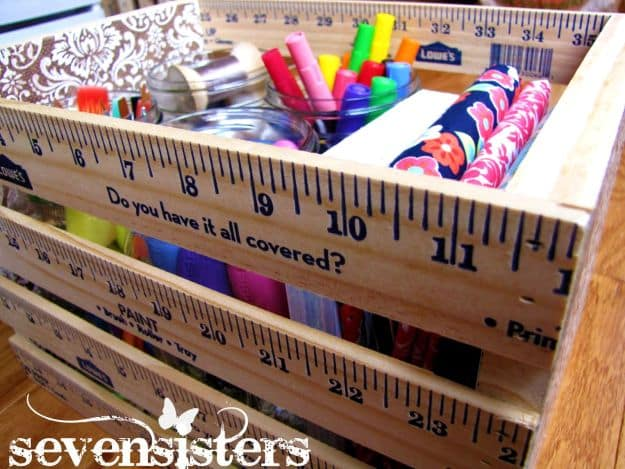 Ruler Crate | DIY Teacher Gifts To Ring In The New School Year