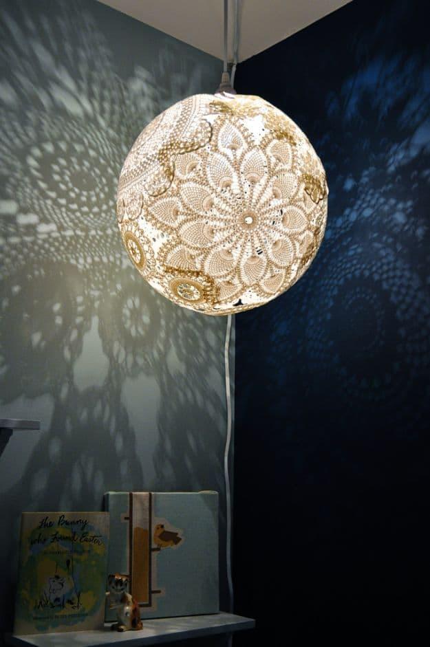 Doily Lamp | DIY Teen Room Decor Projects
