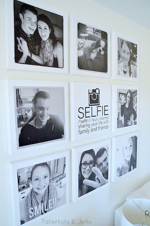 Selfie Tween/Teen Instagram Hangout Wall DIY | DIY Teen Room Decor Projects