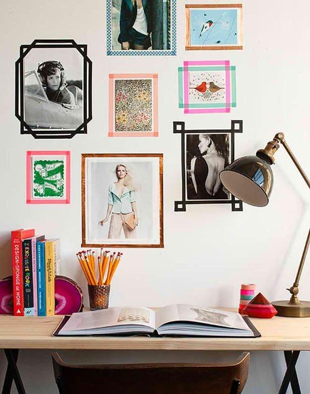 Washi Tape Frame | DIY Teen Room Decor Projects