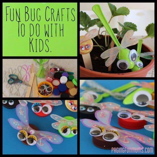 Bottle Cap Bugs | Simple DIY Crafts For Kids