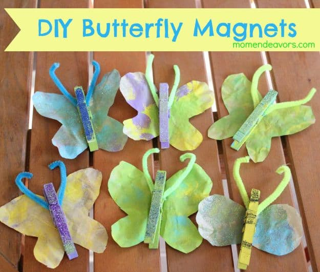 DIY Butterfly Magnets | Simple DIY Crafts For Kids