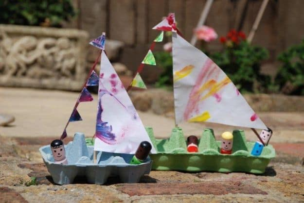 Egg Carton Boat | Simple DIY Crafts For Kids