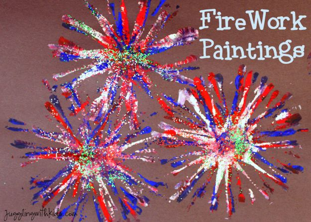 Firework Painting | Simple DIY Crafts For Kids